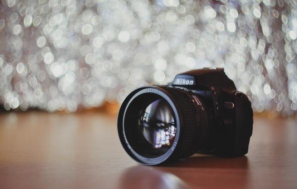 Картинка Nikon, обьектив, боке, бокэ, Bokeh, Nikkor, 1.4, D40x