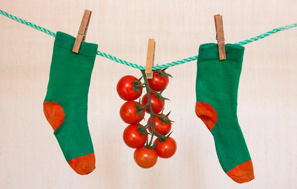 Картинка носки, помидоры, прищепки