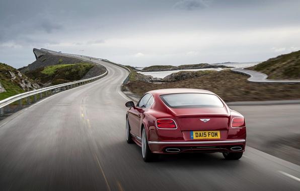 Картинка красный, Bentley, Continental, Speed, бентли, континенталь, 2015