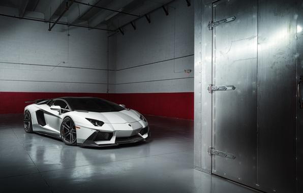 Картинка Lamborghini, White, LP700-4, Aventador, Supercar, Wheels, ADV.1, PML 1