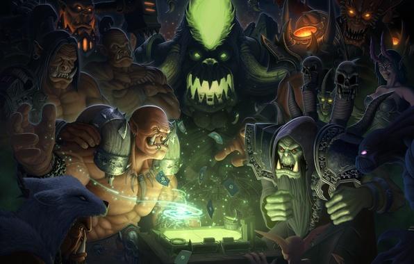 Картинка карты, World of Warcraft, орки, wow, fan art, orcs, Fanart, Garrosh Hellscream, Hearthstone, Grommash Hellscream, …