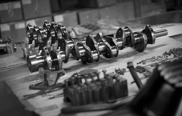 Картинка двигатель, запчасти, поршень, шатун, коленвал