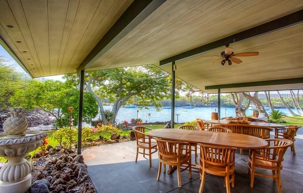 Картинка pacific ocean, home, luxury, hawaii, terrace