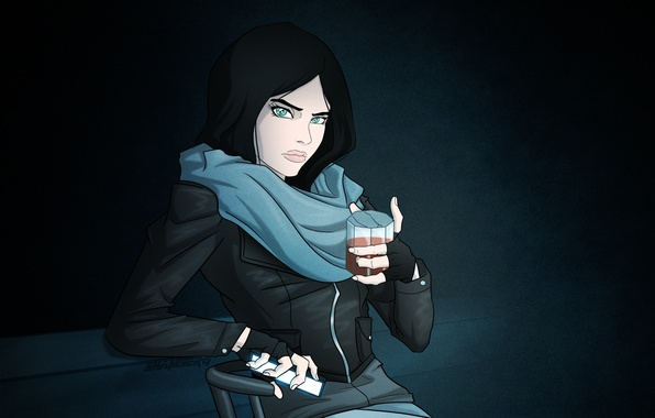 Картинка девушка, арт, сериал, детектив, marvel, netflix, Jessica Jones