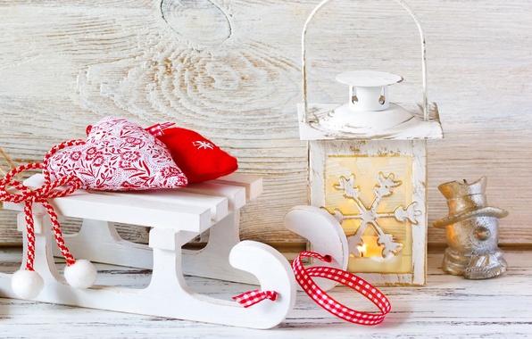 Картинка зима, снег, игрушки, Новый Год, Рождество, Christmas, winter, snow, decoration, Merry