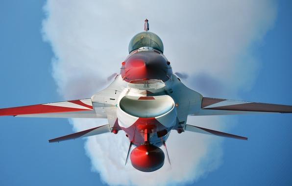 Картинка группа, кабина, полёт, F-16, Fighting Falcon, пилотажная, ВВС Сингапура, Чёрные Рыцари