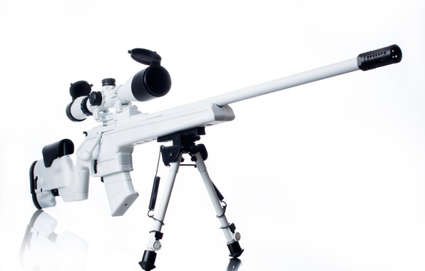 Картинка белый, оружие, оптика, винтовка, снайперская, Мосина