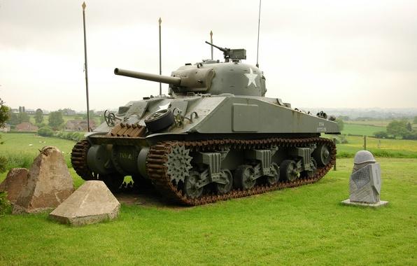 Картинка войны, танк, средний, M4 Sherman, периода, мировой, Второй, «Шерман»