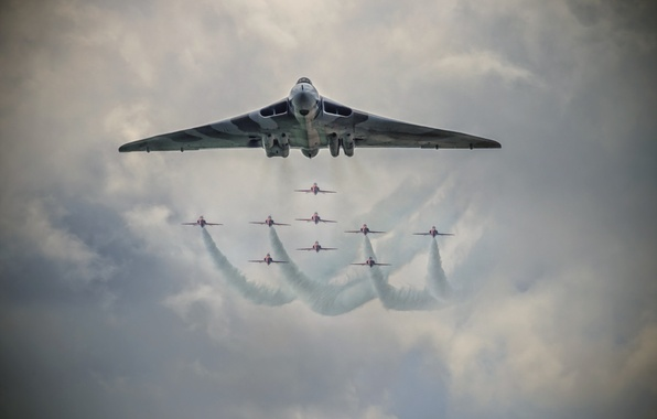 Картинка aircraft, Red Arrows, Vulcan Bomber