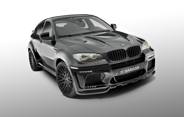 Картинка бмв, BMW, белый фон, Hamann, X6 M, Е71