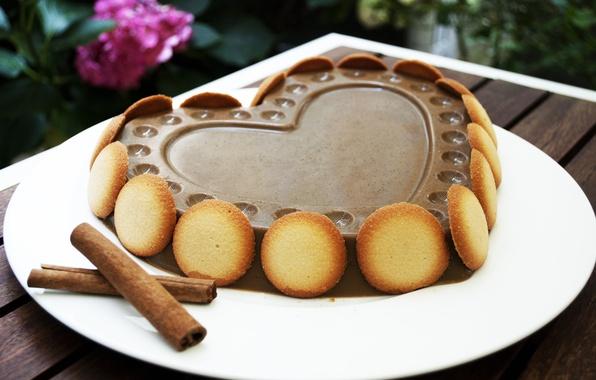 Картинка любовь, праздник, сердце, еда, шоколад, торт, love, пирожное, cake, flower, десерт, heart, food, сладкое, chocolate, …