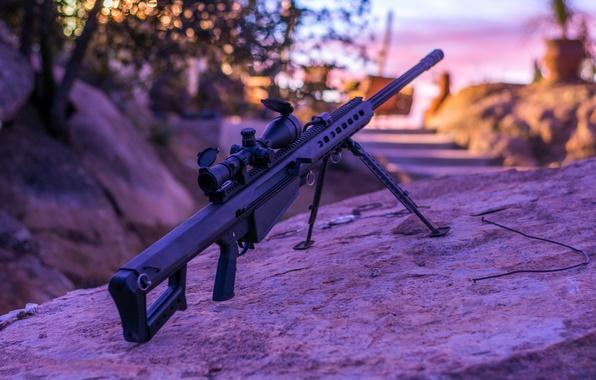 Картинка винтовка, снайперская, самозарядная, крупнокалиберная, Barrett M82