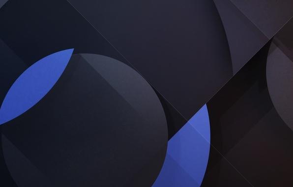 Картинка круги, синий, текстура, Android, геометрия