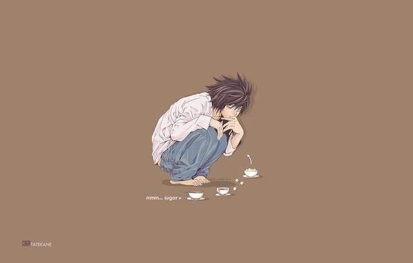 Картинка аниме, тетрадь смерти, Death note