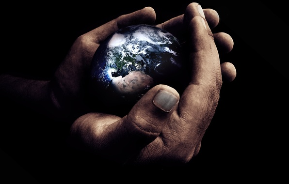 Картинка земля, мир, планета, руки