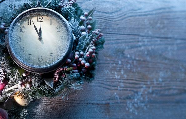 Картинка Новый Год, Рождество, new year, frozen, clock