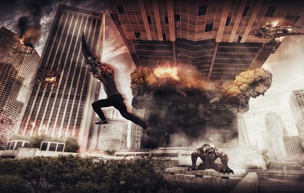 Картинка апокалипсис, разрушения, games, Alexander Malkin, prototype 2