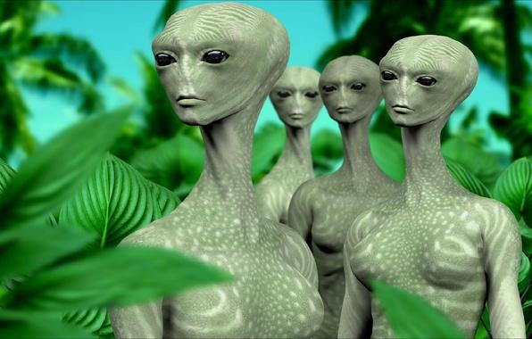 Картинка рендеринг, фантастика, арт, инопланетяне