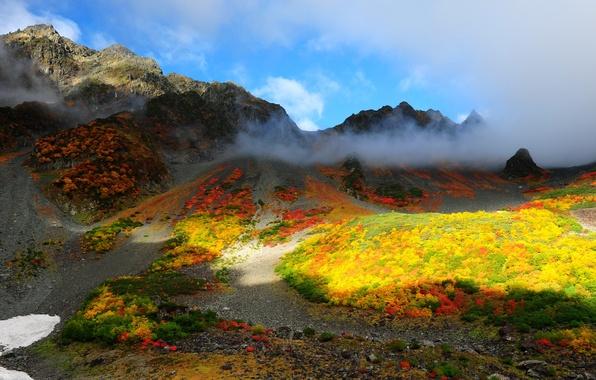 Картинка облака, пейзаж, горы, природа, фото, Китай