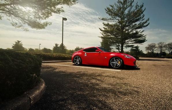Картинка тюнинг, red, автомобиль, ниссан, hd wallpaper, Nissan 370Z