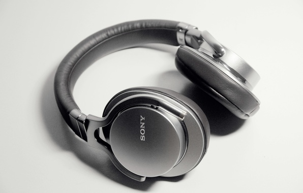 Картинка white, black, sony, headphone, MDR-1A, prestige