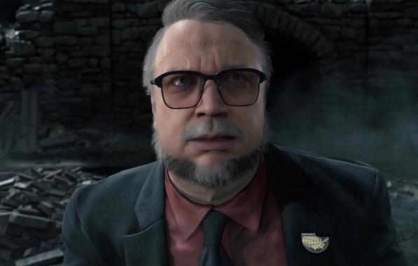 Картинка game, man, suit, Kojima Productions, tie, scar, Bridges, Hideo Kojima, Death Stranding, Sony Interactive Entertainment
