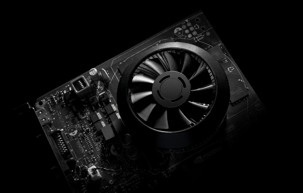Картинка plastic, black and white, cooler, video card, electronica