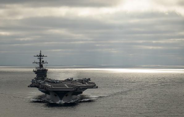 Картинка оружие, армия, aircraft carrier, USS Carl Vinson (CVN 70)