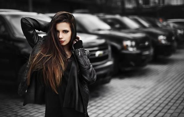 Картинка авто, взгляд, город, модель, Москва, Настя, Chevrolet Tahoe III