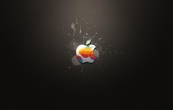 Картинка apple, кляксы, i'm a mac