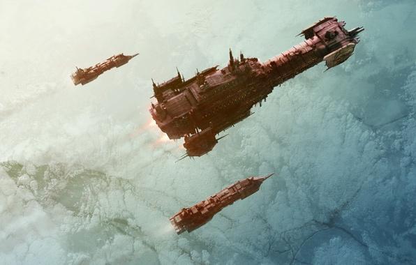 Картинка космос, корабль, warhammer 40000