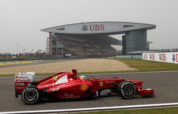 Картинка Формула 1, Ferrari, Шанхай, Fernando Alonso, Фернандо Алонсо, f2012