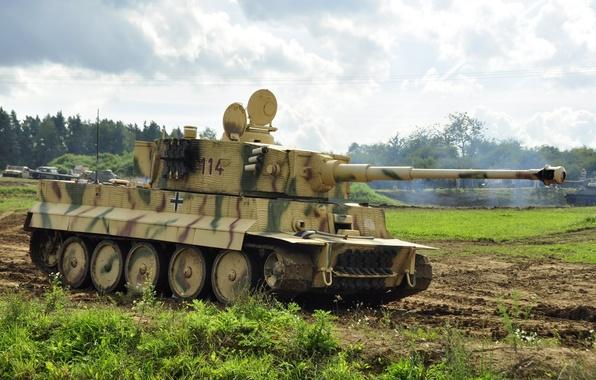 Картинка танк, Tiger, бронетехника, немецкий, PzKpfw VI, SdKfz 181, тяжёлый