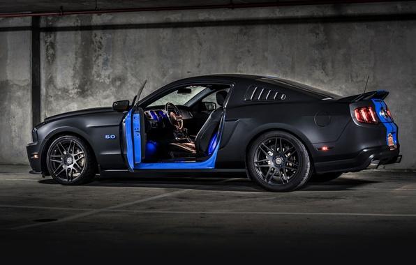 Картинка ford mustang, muscle car, автообои, hq wallpaper