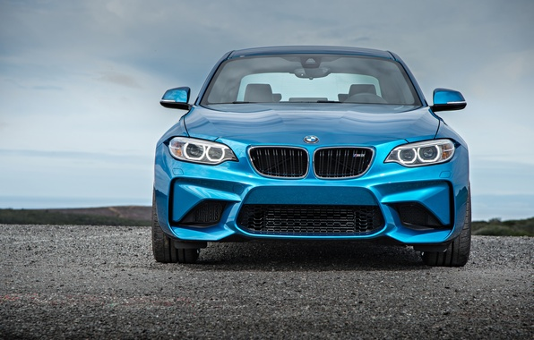 Картинка морда, бмв, купе, BMW, синяя, Coupe, F87