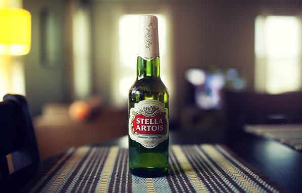 Картинка бутылка, пиво, stella artois