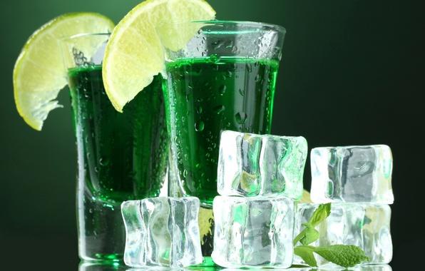 Картинка лед, лето, капли, стакан, лимон, бокал, лёд, коктейль, лайм, напиток, мята, прохлада, мохито, кусочки льда
