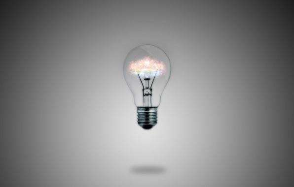 Картинка лампочка, макро, свет, лампа, минимализм