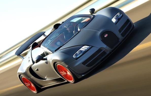 Картинка Roadster, скорость, трасса, автомобиль, Bugatti Veyron, гиперкар, Grand Sport, Vitesse