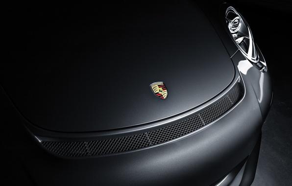 Картинка тень, 911, Porsche, капот, бампер, GT3, шильдик, 991