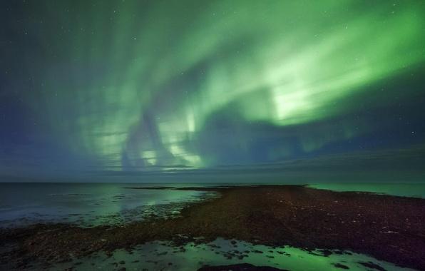 Картинка звезды, ночь, северное сияние, Aurora Borealis