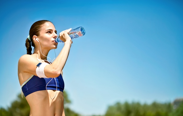 Картинка woman, mineral water, outdoor activity, hydration of the sportsman