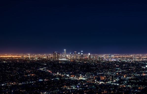 Картинка City, Blue, Landscape, Urban, Los Angeles, Downtown, Skyline, Photo, Architecture, Lifestyle