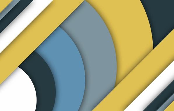 Картинка линии, желтый, серый, голубой, геометрия, material