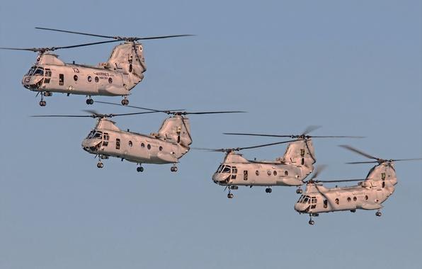 Картинка небо, полет, авиация, вертолеты