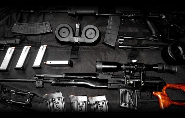 Картинка пистолет, автомат, винтовка, магазин, killer