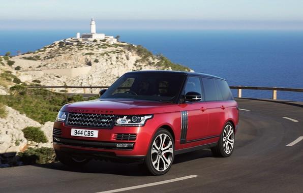 Картинка дорога, car, авто, Land Rover, Range Rover, road, SVAutobiography