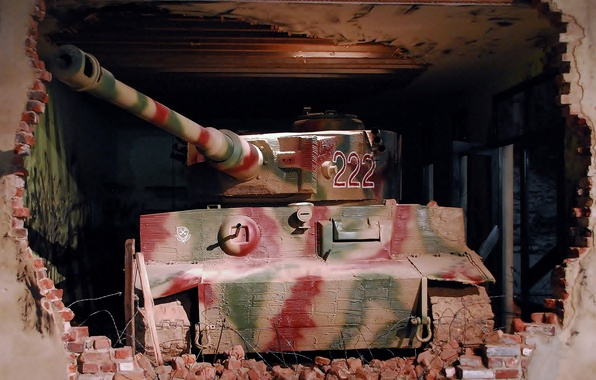 Картинка Тигр, развалины, музей, немецкий тяжелый танк, tiger I