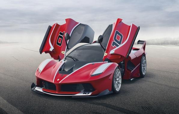 Картинка фон, двери, Феррари, Ferrari, суперкар, передок, FXX K