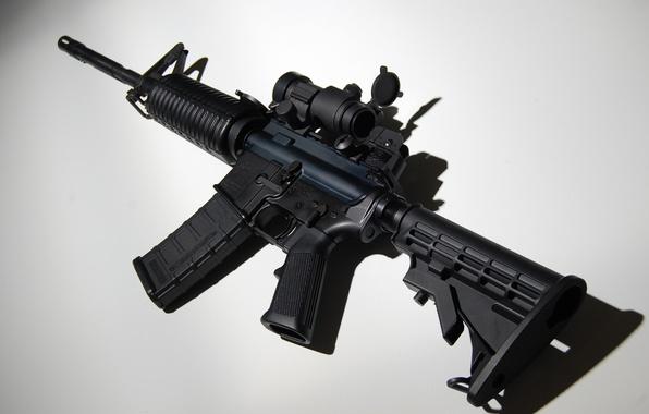 Картинка оружие, фон, автомат, assault rifle, AR-15, штурмовая винтовка